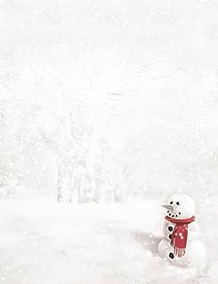 Hortense B. Hewitt 80-Pack Snowman in Red Scarf Decorative Paper