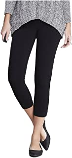 Women's Stretchy Capri Leggings - Super Soft Cropped Tights - Regular and Plus Sizes