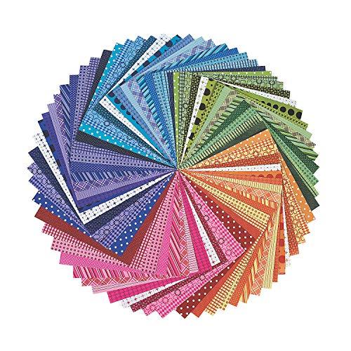Fun Express Rainbow 12 x 12 Scrapbooking Paper Paper - Bulk 100 Pack - DIY Craft Supplies for Kids and Adults