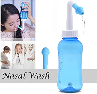 Hivexagon 300ml Nasal Wash Cleaner Nasal Irrigation for Allergic Rhinitis, Sinus Rinse Nose Wash Bottle Nose Care for Adult and Children
