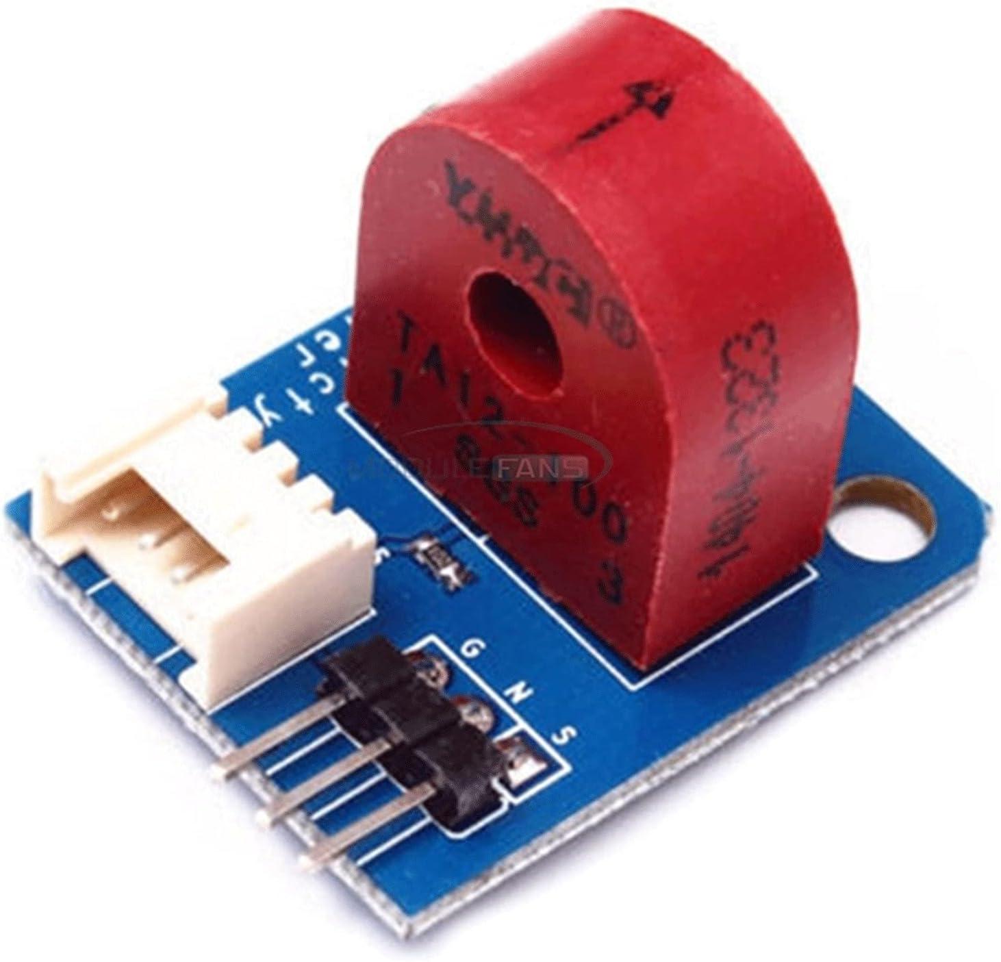 ZRYYD Módulo de medidor de Corriente analógico AC 5A Ammeter Sensor de Electricidad Tablero del módulo para Arduino Lick 5V E/S A12-100 Transformador de Corriente