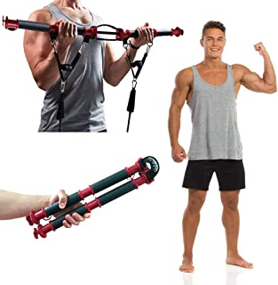 TENSION TONER - Increase Muscle Balance and Get Lean with Over 70 Full Body Exercises - Patented Home Gym System That Folds for Storage or Travel - Resistance Band Training