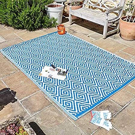 garden mile large al fresco area rugs indoor outdoor patterned rug patio terrace balcony hall kitchen carpet rugged and water resistant 100