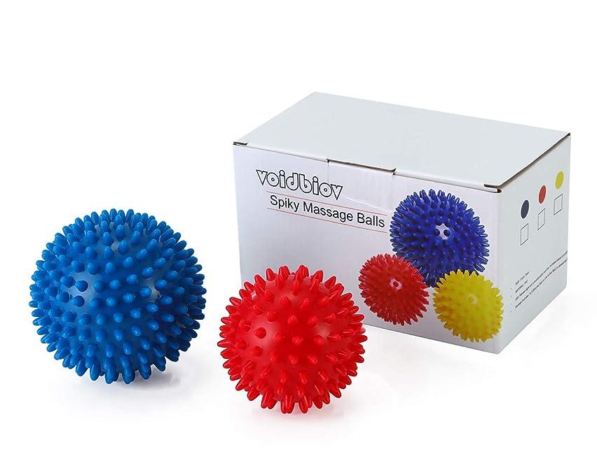 おもちゃひいきにする深くマッサージボール【9CM/7.5CM 2個セットと収納袋】PVCトリガーポイントリフレックスボール、筋肉緊張和らげ、エクササイズ ヨガ ボール ピラティス リハビリトレーニングツール