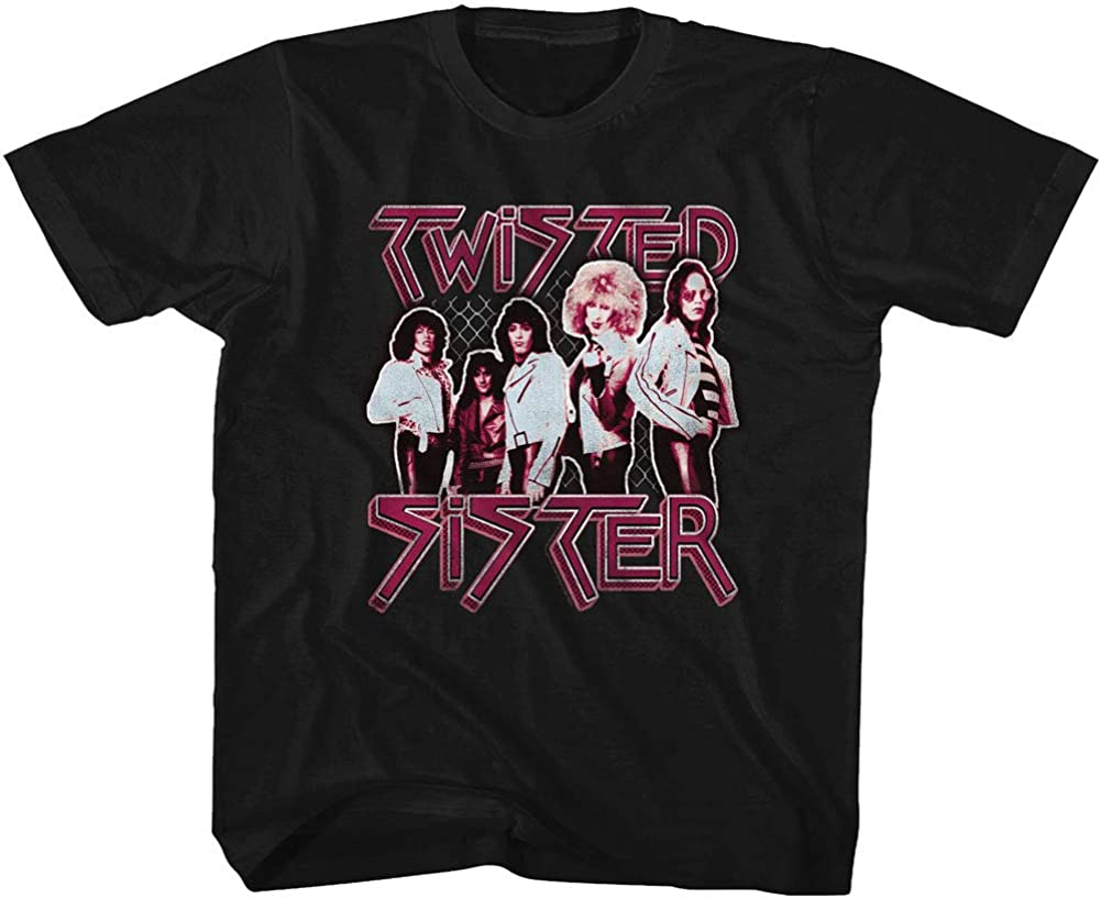 Twisted Sister Heavy Metal Band Pretty in Pink Youth T-Shirt Tee