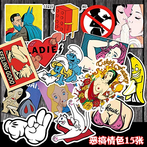 Parodie Beauty pak Rock'n'Roll sticker gitaarsticker rek trommel sticker jamaica sticker kartonnen sticker