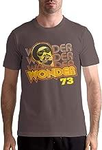 Larry C Dizon Men's Stevie Wonder Logo Fashion Comfortable Short Sleeve T-Shirt