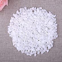 Calvas 58mm 1000pcs/Lot Half Tear Drop Beads Ivory Imitation Pearl Beads for Nail DIY Jewelry Making Decoration Supply - (Color: AAE0508A)