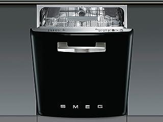 Smeg ST2FABNE Bajo encimera 13cubiertos A lavavajilla - Lavavajillas (Bajo encimera, Negro, Acero inoxidable, 13 cubiertos, 43 dB, A)