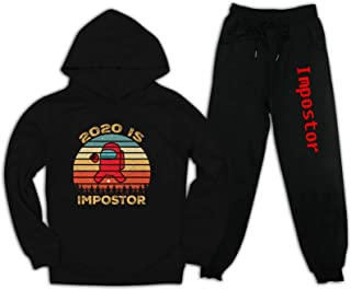 VIPODER Among Us Pullover Hoodie and Sweatpants Suit for Boys Girls 2 Piece Outfit Fashion Sweatshirt Set