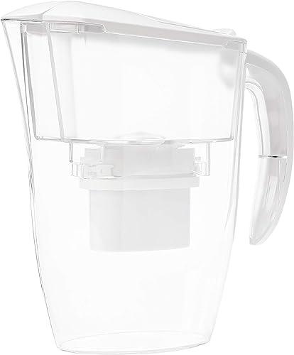 AmazonBasics - Jarra con filtro de agua, de 2,4 L, blanco