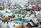 Aaubsk Puzzle 1000 Piezas Cuadro de Carteles navideños Serie 179 Cuadros de Arte Puzzle 1000 Piezas Adultos Juego de Habilidad para Toda la Familia, Colorido Juego de ubicación.50x75cm(20x30inch)
