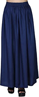 Indian Dresses Store Dada Shopy Maxi Skirts for Women, Girls Blue