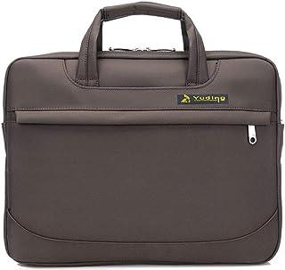 JIE 14-Zoll-Business-Laptop-Tasche, Multifunktions-Segeltuch-Wasserdichte Tragbare Tragende Handtasche Mit Gurt Für Männer Und Frauen Farbe : Bronze