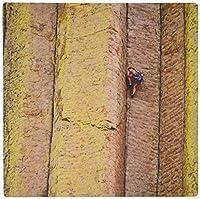 3dRose LLC 8 x 8 x 0.25 Inches Mouse Pad, Technical Rock Climber Devils Tower Columns Wyoming Frank Zurey (mp_97305_1) [並行輸入品]