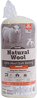 Fairfield Natural Wool Twin Quilts Batting, 72
