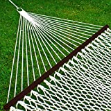 Best Choice Products 2-Person Woven Cotton Rope Double Hammock for Porch, Backyard, Patio, w/Spreader Bars, Carrying Case
