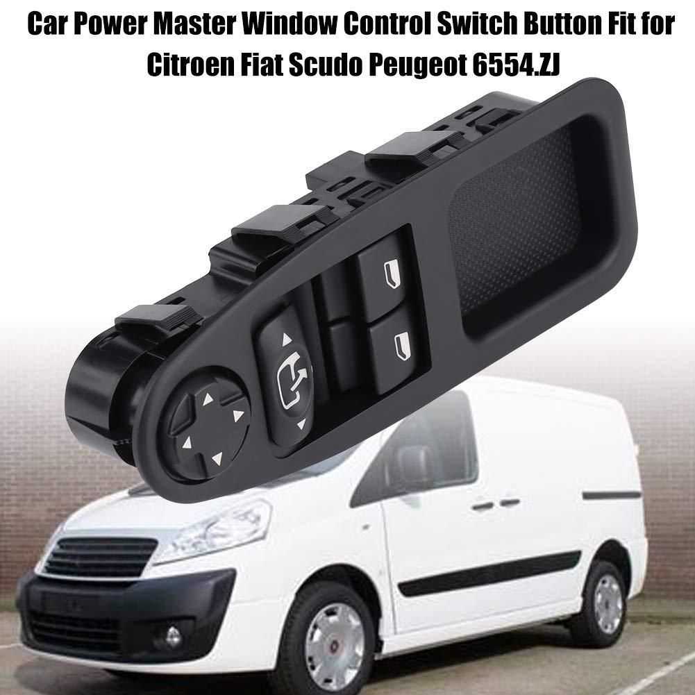 KIMISS ABS Interruptor de la Ventana de alimentación Principal Botón de Control de Ventana: Amazon.es: Electrónica