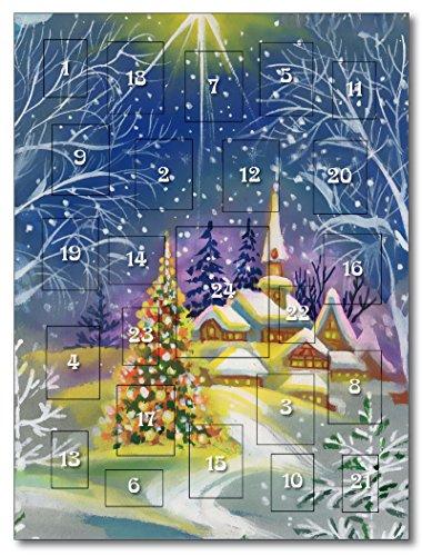 Briefmarken |Aquarell-Winterlandschaft |Philatelistischer Adventskalender |24 Türchen |exklusiv bei Hermann E. Sieger