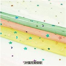 DIY Tule stof voor naaien kinderen jurk ster mesh stof voor DIY kleurrijke achtergrond decoratie 45 * 135cm / pc voor naai...