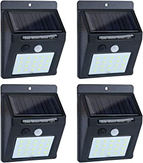 Solar Lights Outdoor Motion Sensor, 20LED Solar Powered Lights, EWETON Waterproof Wireless Security Wall Lights Solar Lamps with Intelligent Modes for Garden/Deck/Fence/Yard/Gate/Patio/Garage-4 Pack