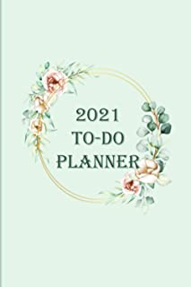 2021 TO-DO Planner: Simple Checklist Notebook, Daily Planner 2021Journal Gift, 100 Pages, 6x9, Cover, Matte Finish.