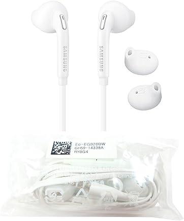 Samsung EG920- Auricolari Originali in-Ear Galaxy S6Edge SM-G925F (Tappi per Le Orecchie, Spina da 3,5mm, Suono Stereo), Bianco