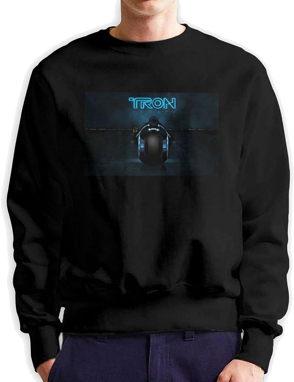 Tron Men'S Long Sleeve Printed Sweatshirt Cotton Black