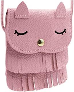 ZGMYC Cat Tassel Shoulder Bag Small Coin Purse Crossbody Satchel for Kids Girls