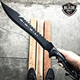 New 25' FULL TANG HUNTING SURVIVAL FIXED BLADE MACHETE TACTICAL Rambo EcoGift Nice Knife with Sharp Blade Sword- Great For Fun And Practical Use