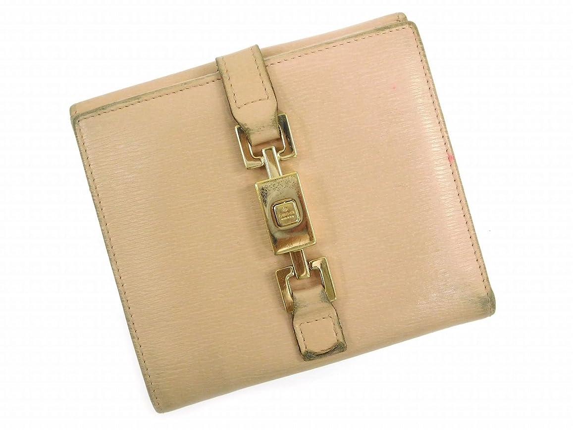 懸念象一元化する[グッチ] GUCCI 二つ折り財布 ジャッキー金具 レザー X7465 中古