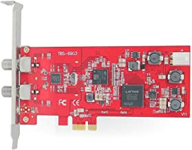 TBS DVB-S2 Professional Dual Tuner PCI Express Digital Satellite TV Card with Unique DVB-S2 Demodulator Chipset for Receive Special Broadcasted with ACM, VCM, 16APSK,32APSK