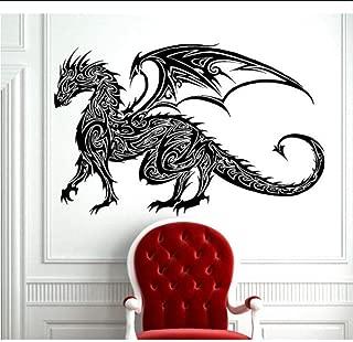 Wall Stickers Tribal Tattoo Classic Chinese Dragon Wall Decal Sticker Decor Wall Art Vinyl Mural Tribal Antient Dragon Art Decals