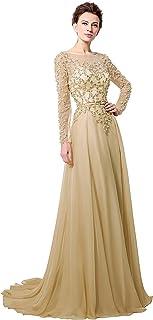 فستان طويل لحفلات التخرج للنساء 2020 A خط فستان رسمي بأكمام