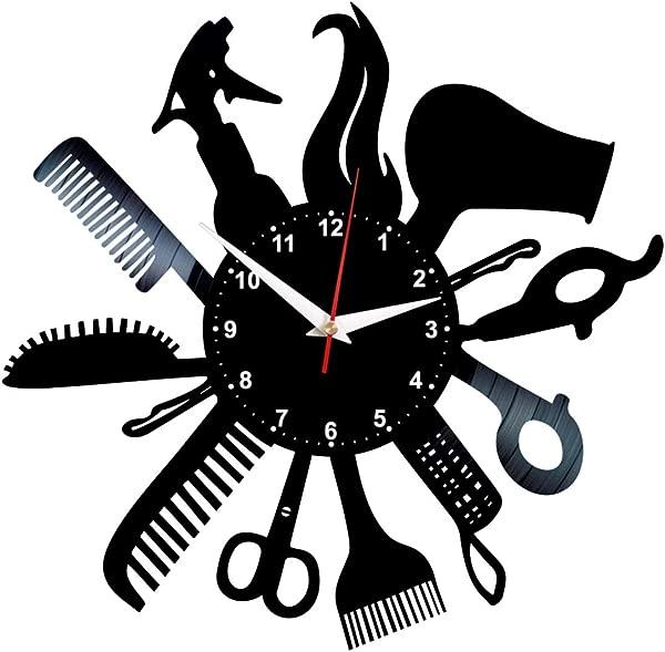 Hairdresser Vinyl Clock Record Wall Art Hair Salon Decor Barber Gifts