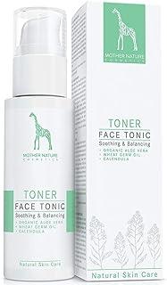 Tónico para la Limpieza Facial con Aloe Vera BIO, Aceite de Germen de Trigo y Caléndula - VEGANO - 125 ml de Limpiador Facial para Piel Normal, Mixta y Impura - Cuidado Facial Natural