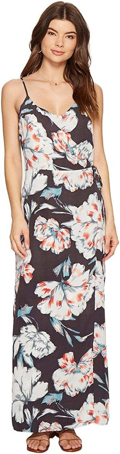 1.STATE Womens Floral Wrap Front Maxi Dress