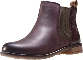 Womens Abigail Casual Leather Smart Winter Ankle Heeled Boots - Wine - 8.5