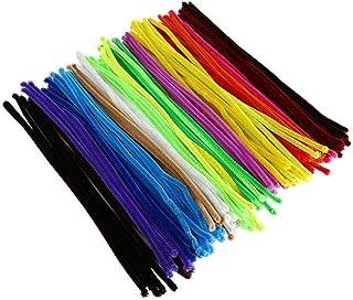 LIOOBO 200 peças de limpadores de cachimbo coloridos, hastes de chenille, artesanato, palitos de chenille, cores mistas 6 ...