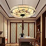 BRIGHTLLT Minimalista cinese nuovo dipinte a mano e lampadari Cina Ristorante vento tessuti classici lampadari teahouse usato bianco luce,500*H280mm lanterne