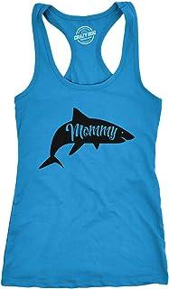 Womens Tank Mommy Shark Tanktop Funny Viral Kids Song Shirt
