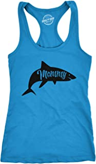 Womens Fitness Tank Mommy Shark Tanktop Funny Viral Kids Song Shirt (Turquoise) - XL