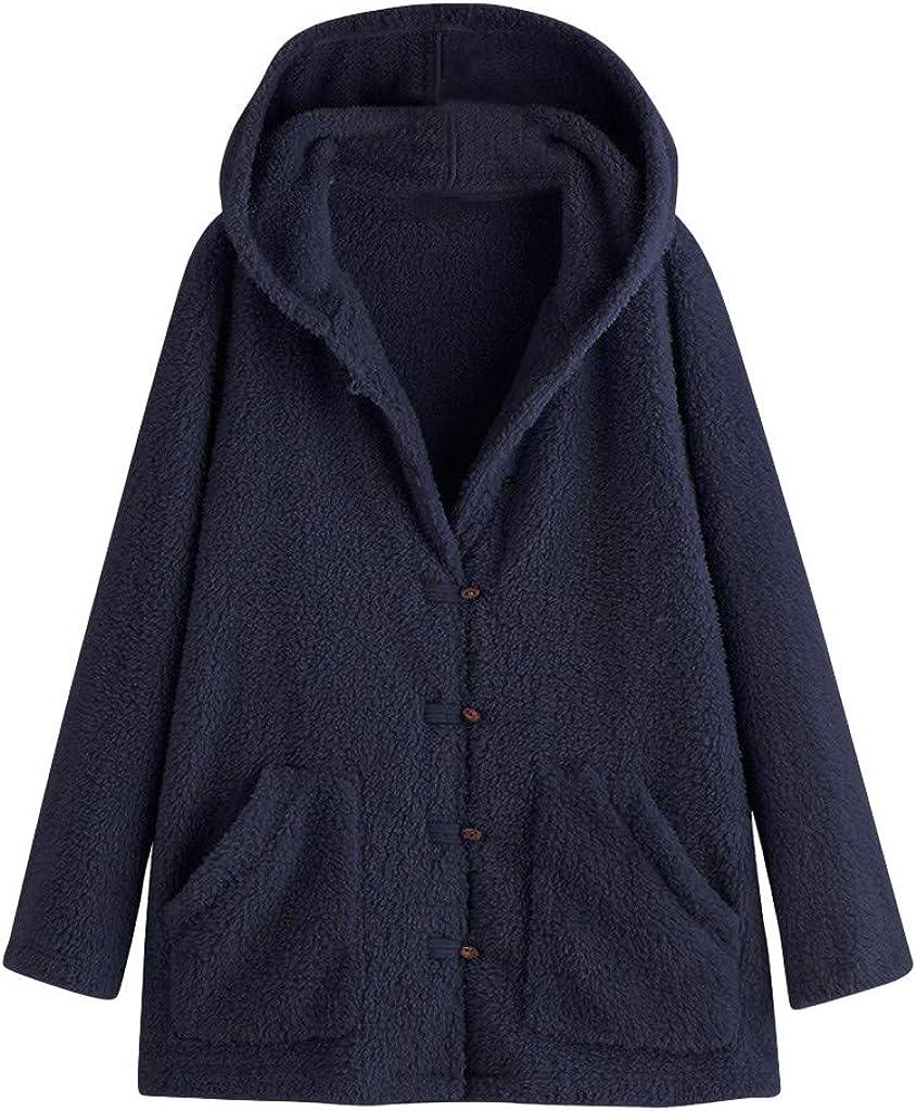 2021 TWGONE Fall Coats for Las Vegas Mall Women with Hoodie Jacket Fleece Ove