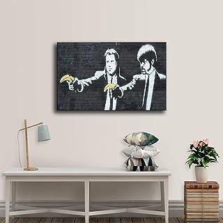 WJY Banksy Graffiti Poster Print Pulp Fiction Bananas Movie Prop Canvas Painting para el hogar Sala de Estar Decoración Wall Art Picture 60cm x90cm No Frame