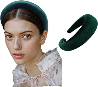 Padded Headbands Fashion Women Thick Velvet 90s Hair Accessories Head Band Fashion Headwear Wide Plastic Hairbands For Woman