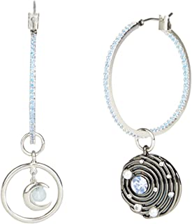 Carolee Women's Mismatched Hoop Drop Earring