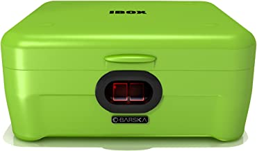 BARSKA AX12458 iBox Dual Biometric Secure Device Lock Box Security Safe, Green, Standard