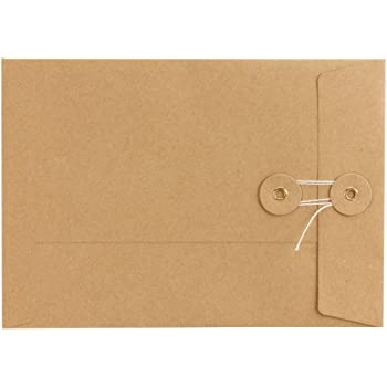 glatt Briefumschlag Versandtasche Kraftpapier Kuvert Bindfadenverschluss 10er Pack Umschlag C5 Wei/ß