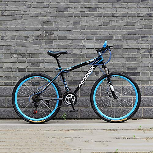 YXWJ 24/26 Pulgadas de Bicicletas de montaña for Adultos de Doble Freno de Disco Fat Tire Bike Mountain Trail 24 / 27speed Variable bicis de Carreras de Velocidad for Hombres y Mujeres