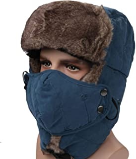 Unisex Dustproof And Windproof Winter Cycling Hat Warm Winter Hat Outdoor Face Neck Protective Mask Snow Hat Mountaineerin...